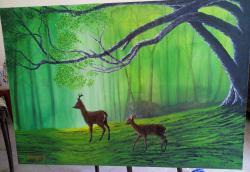 Picturi de primavara Viata in padure