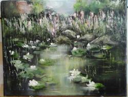 Picturi de primavara Lacul cu nuferi