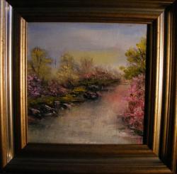 Picturi de primavara Margine de apa primavara