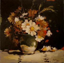 Picturi de primavara Vas de lut cu flori de camp1