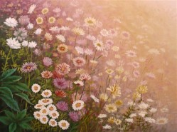 Picturi de primavara Flori pe povarnis