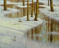 Picturi de primavara Topirea zapezii