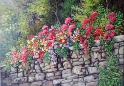 Picturi de primavara Zidul inflorit
