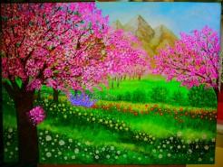 Picturi de primavara Frumusetea primaverii