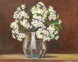 Picturi de primavara flori de visini in pahar