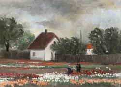 Picturi de primavara gradina cu flori 10