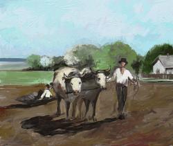 Picturi de primavara lucrarea pamantului in trecut