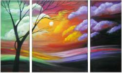 Picturi de primavara peisaj abstract 2