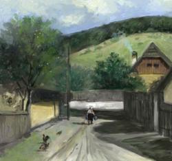 Picturi de primavara peisaj rural 1
