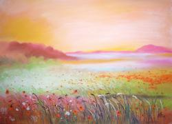 Picturi de primavara Flowers Fields 2