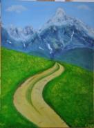 Picturi de primavara Primavara spre munte 2011