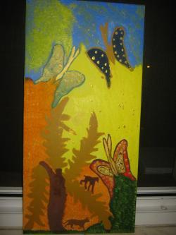 Picturi de primavara fluturi