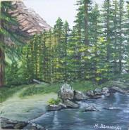 Picturi de primavara La marginea raului
