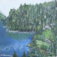 Picturi de primavara Lacul