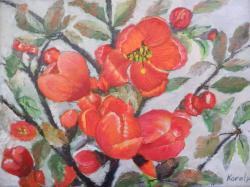 Picturi de primavara Flori de gutui