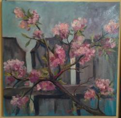 Picturi de primavara Piersicul înflorit