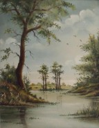 Picturi de primavara Primavara la lac