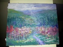 Picturi de primavara camp de magnolii