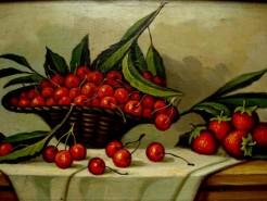 Picturi de primavara Cos cu cirese