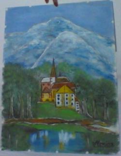 Picturi de primavara peisaj montan
