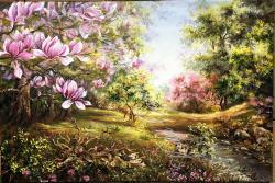 Picturi de primavara Magnolia