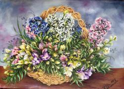 Picturi de primavara Vis de primavara cu flori