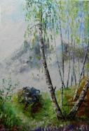 Picturi de primavara Mesteceni primavara