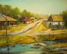 Picturi de primavara Casa bunici