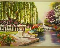 Picturi de primavara Flori in paradis