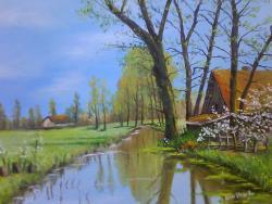 Picturi de primavara primavara la sat .