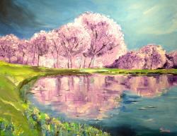 Picturi de primavara Violet Spring