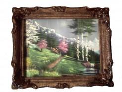 Picturi de primavara Primavara cu flori