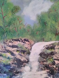 Picturi de primavara Cascada primavara