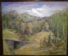 Picturi de primavara Peisaj sub vf apostoli gutai maramures