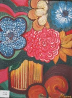 Picturi de primavara Cutie cu flori