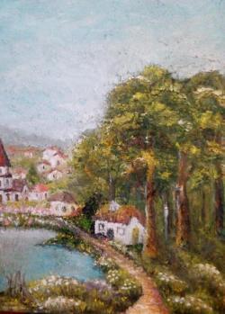 Picturi de primavara Satul bunicii de la munte