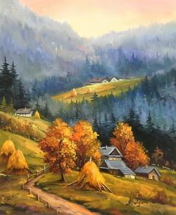 Picturi de toamna CONTRASTE MONTANE