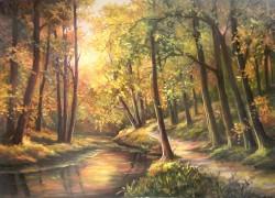 Picturi de toamna Padure pictata cu toamna