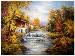 Picturi de toamna TOAMNA LA MOARA