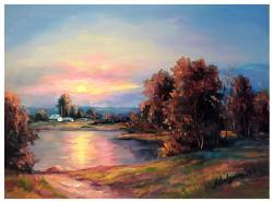 Picturi cu peisaje ZORI DE VIS