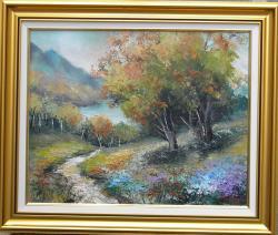 Picturi de toamna DRUMUL SPRE LAC