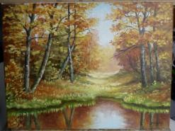Picturi de toamna Toamna la margine de lac