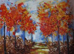 Picturi de toamna Padurea Aramie