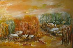 Picturi de toamna Canale cu sate in Delta
