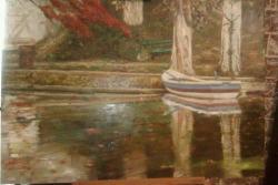 Picturi de toamna Barca pe lac