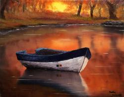 Picturi de toamna Octombrie pe lac