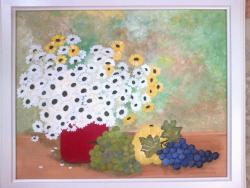 Picturi de toamna Tufanele, struguri si gutuie