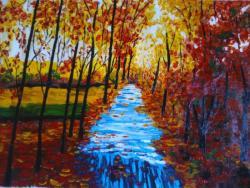 Picturi de toamna autumn forest cod 0037
