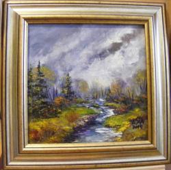 Picturi de toamna Furtuna peste munti