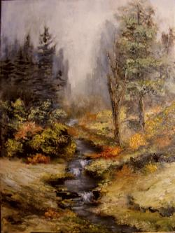 Picturi de toamna Peisaj cu rau